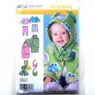 Babies Top Pants Caplet Bib XXS - L Designs Karen Z Simplicity Pattern 4434