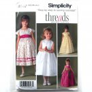 Childs Girls Special Occasion Dresses 3 - 6 Threads Simplicity Pattern 4647
