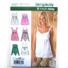 Misses Summer Tops Six Made Easy Simplicity Pattern 4127