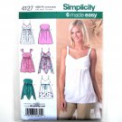 Simplicity Pattern 4127 Size 12 - 20 Six Made Easy Misses Summer Tops