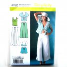 Womens Summer Wrap Pants Shorts Kimono Bra Top 14 16 18 20 22 Simplicity Pattern 4192