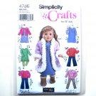 "18"" Doll Clothes Simplicity Pattern 4786 Elaine Heigl Designs Crafts"