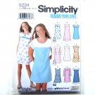 Girls Plus Pullover Jumper Dress 8 1/2 - 16 1/2 Wrights Karen Z Simplicity Pattern 5234