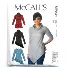 Misses Pullover Tops McCalls Sewing Pattern MP241