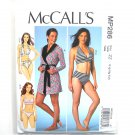 Robe Halter Bras Panties McCalls Sewing Pattern MP286