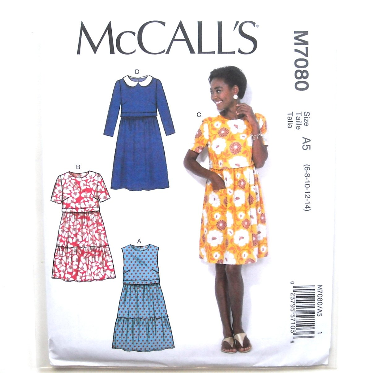 Misses Pullover Dresses McCalls Sewing Pattern M7080