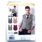 Learn To Sew Mens Vests 34 - 42 Simplicity Pattern 2346