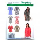 Womens Misses Tunic 6 8 10 12 14 Simplicity Pattern 2365