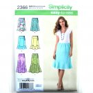 Easy To Sew Womens Misses Skirts 8 - 16 Karen Z Simplicity Pattern 2366