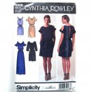 Womens Misses Mini Maxi Dress 6 - 14 Cynthia Rowley Simplicity Pattern 2406