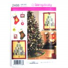 Christmas Decorations Treeskirt Stocking Crafts Simplicity Sewing Pattern 2488