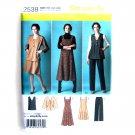 Womens Misses Jumper Pants Jacket Vest Plus Size 20W - 28W Simplicity Pattern 2539