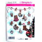 Elaine Heigl Holiday Crafts Christmas Decorations Ornaments Simplicity Pattern 2545