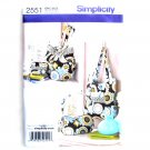 Accessories Womens Misses Handbag Purse Tote Simplicity Sewing Pattern 2551