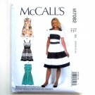 Misses Pleated Skirt Dresses 6 8 10 12 14 McCalls Sewing Pattern M7082