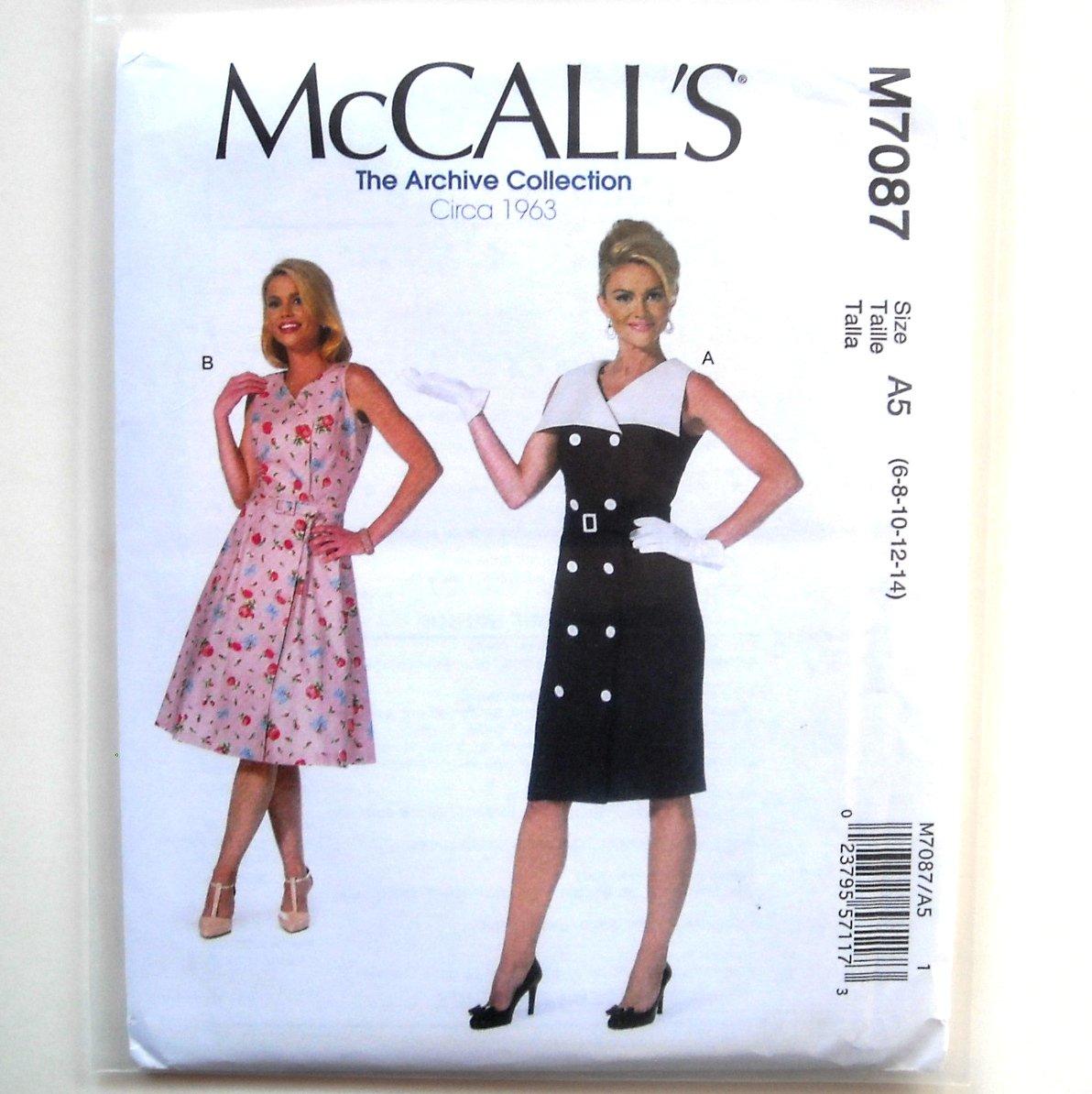 Misses Sleeveless Dresses Belt 6 8 10 12 14 McCalls Sewing Pattern M7087