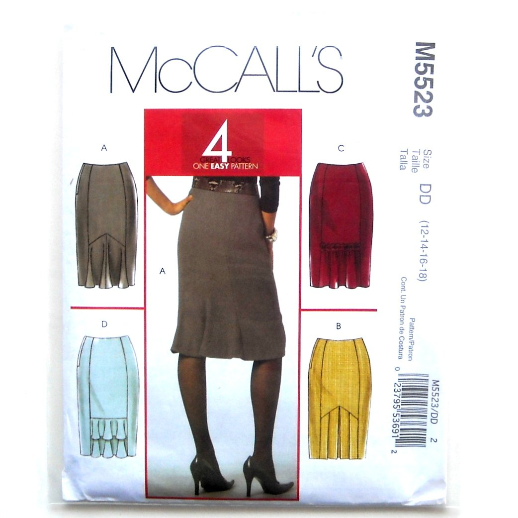 Misses Petite Skirts 12 14 16 18 Out Of Print McCalls Sewing Pattern M5523