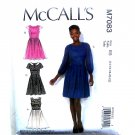 Misses Pleated Skirt Dress 14 16 18 20 22 McCalls Sewing Pattern M7083