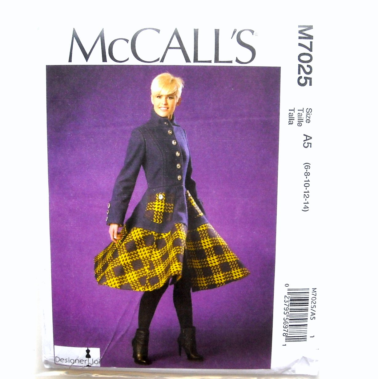 Misses Flared Coat Designer Joi McCalls Sewing Pattern M7025