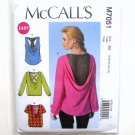 Misses Tops 6 8 10 12 14 Easy McCalls Sewing Pattern M7051