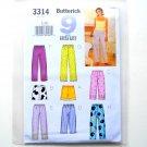 Butterick Pattern 3314 Size L - XL 9 Sew Easy Misses Petite Top Shorts Pants