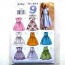 Girls Fancy Dress Size 2 - 5 Sew Easy Butterick Pattern 3350