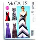 Misses V-Neckline Dresses 6 8 10 12 14 McCalls Sewing Pattern MP422