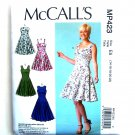 Misses Fit Flare Dresses 14 16 18 20 22 McCalls Sewing Pattern MP423
