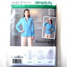 Misses Miss Petite Blouse Top 6 8 10 12 14 Simplicity Sewing Pattern 2151