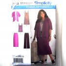 Misses Pants Skirt Dress Jacket 10 12 14 16 18 Simplicity Sewing Pattern 2419