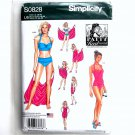 Two Piece Swimsuits Misses Beach Cover Ups Simplicity Sewing Pattern S0828