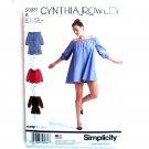 Misses Romper Mini Dress Top Simplicity Sewing Pattern S0981