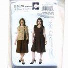 Womens Jacket and Dress Connie Crawford XXL - 6X Butterick Pattern B5620