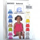 Girls Tops Skort Shorts Size 2 - 5 Butterick Pattern B4503