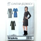 Misses Dresses 14 - 22 Cynthia Rowley Collection Simplicity Pattern 2054