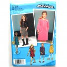 Girls' Jumper Dress Vest Plus Sizes Simplicity Sewing Pattern 1787