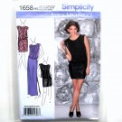 Misses' Petite Party Dress 6 - 14 Simplicity Sewing Pattern 1658