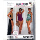 Misses Womens Swimsuits Wrap Skirt Simplicity Sewing Pattern S0303
