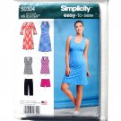 Misses Easy Knit Sport Dresses Tunics Shorts Simplicity Sewing Pattern S0304