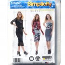 Misses Knit Dress Gauntlets Gathered Wrap Simplicity Sewing Pattern S0462