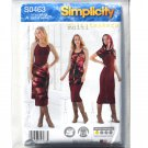 Misses Tank Dress Shrug Zip Channel Simplicity Sewing Pattern S0463
