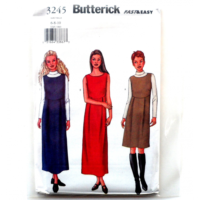 Misses' Dress Jumper Top 6 8 10 OOP Butterick Sewing Pattern 3245