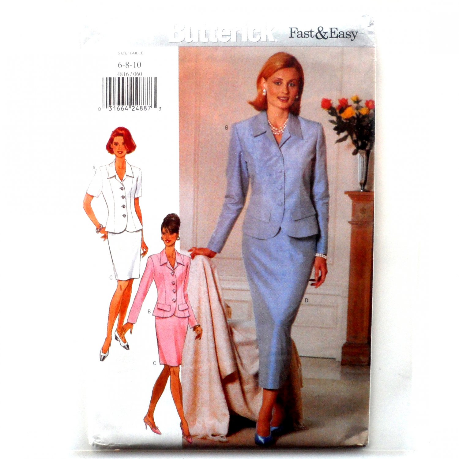 Misses' Top Skirt 6 8 10 Butterick Sewing Pattern 4816