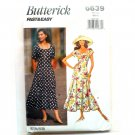 Misses' Petite Vintage Dress 6 8 10 OOP Butterick Sewing Pattern 6639