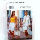 Misses' Jacket Top Skirt 6 8 10 Ellen Tracy Butterick Sewing Pattern 6643