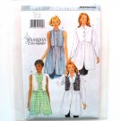 Misses' Shirt Vest 6 8 10 Fashion Essentials Out Of Print Butterick Sewing Pattern 3911
