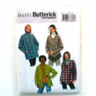 Misses' Jacket Poncho Out Of Print Butterick Sewing Pattern B4351