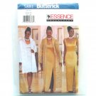 Misses Duster Dress 8 10 12 Butterick Sewing Pattern 5881