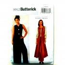 Misses Duster Pants 8 10 12 Ellen Tracy Butterick Sewing Pattern 3912