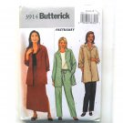 Misses Shirt Jacket Skirt Pants  14 16 18 Easy Butterick Sewing Pattern 3914